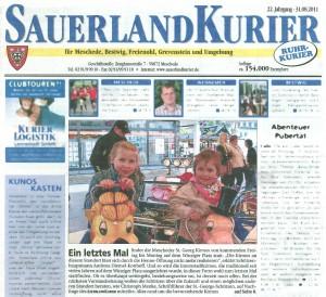 Sauerlandkurier vom 31.08.2011