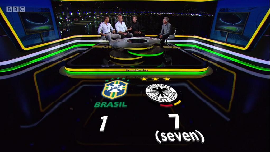 Die BBC gibt zur Sicherheit an, dass es 7 (sieben) Tore waren, um Misverständnissen vorzubeugen. ;)